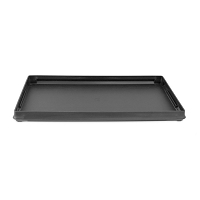 Grooved Black Plastic Stackable Jewelry Display Tray 1