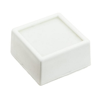 White Glass Top Gem Jar 1-1-2