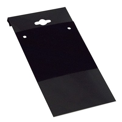 "Hanging Necklace Cards Black 2""x4"" (Package of 100)"