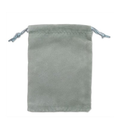 "Velveteen Drawstring Pouch Grey (Size:  3"" x 4"") (Pack of 10)"