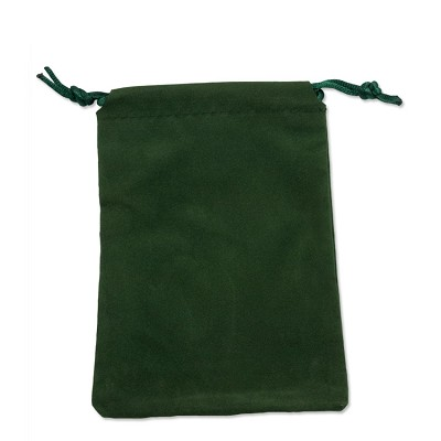 "Velveteen Drawstring Pouch Hunter Green (Pouch Size: 3"" x 4"") (Pack of 10)"