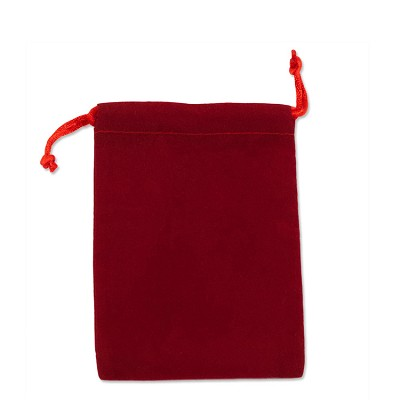 "Velveteen Drawstring Pouch Red (Size: 3"" x 4"") (Pack of 10)"