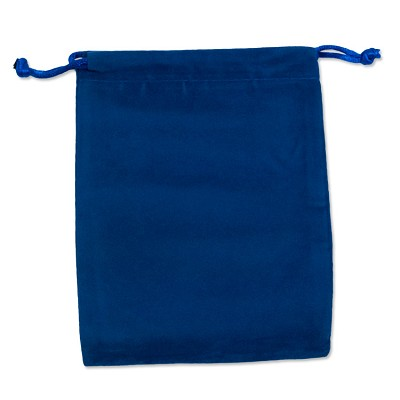 "Velveteen Drawstring Pouch Royal Blue (Size: 4"" x 5"") (Pack of 10)"