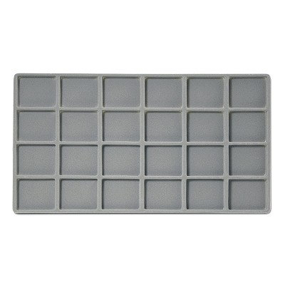 Flocked Jewelry Tray Insert (4x6) Grey