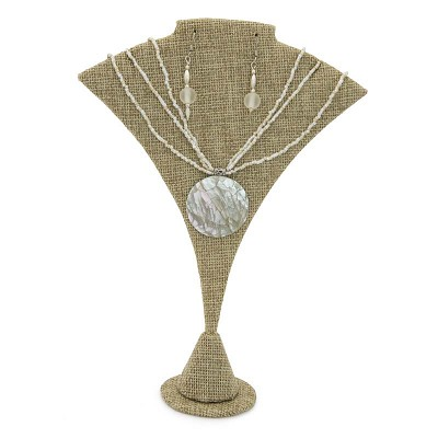 Earring or Necklace Display Burlap