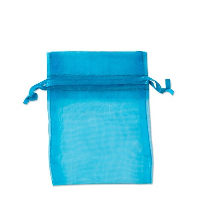 Organza Bags 3x4 Turquoise (10-Pcs)