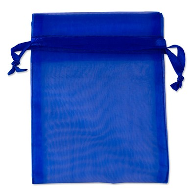 Organza Bags 4x5 Royal Blue (10-Pcs)