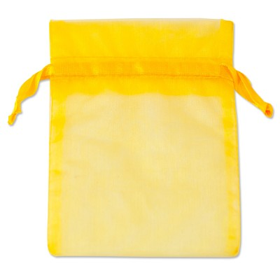 Organza Bags 4x5 Yellow (10-Pcs)