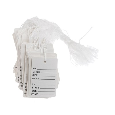 "1-7/8"" White Printed String Tags (Pack of 100)"