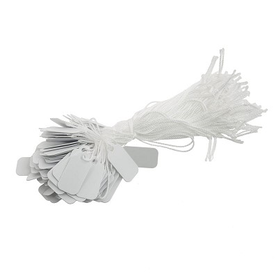 White Plastic String Tags (Pack of 100)