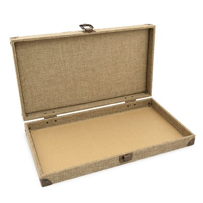Burlap Solid Top Case