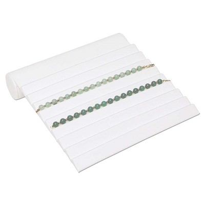 Bracelet Ramp Display Holds 9 Bracelets White