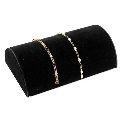 "Half-Moon Bracelet Display 8-1/4"" Wide Black"