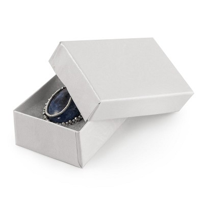 White Jewelry Gift Boxes Cotton Filled #21