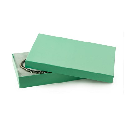 Teal Cotton Filled Jewelry Box #75