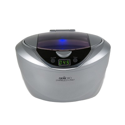 GemOro Sparkle Spa Pro Ultrasonic Jewelry Cleaner Slate Color