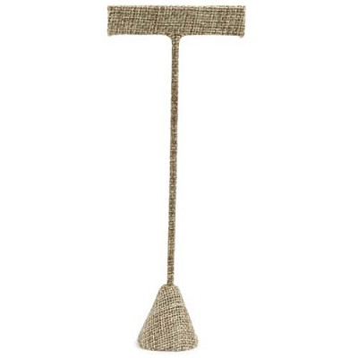 "Earring T Bar Jewelry Display 6-3/4""H Burlap"