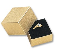Square Ring Box - Gold