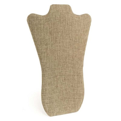 "Necklace Display Stand 14""H Burlap"