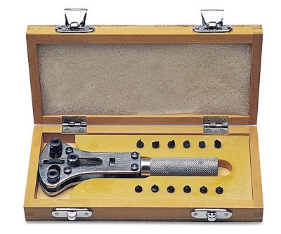 Watch Case Wrench in Wood Box