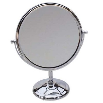 "Deluxe Double Sided 7 1/2"" Chrome Mirror"