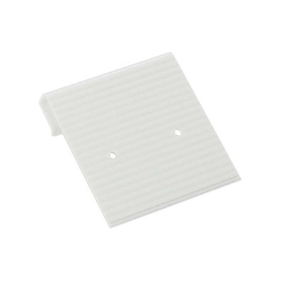 Earring Card 1x1 White Ribbed (100pcs)