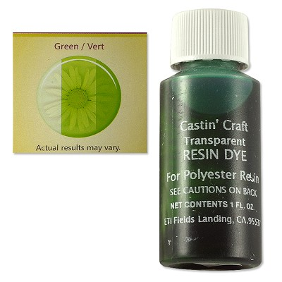 Transparent Green Resin Dye (1-Oz)