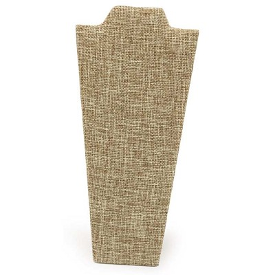 "Necklace Display Stand 8 7/8""H Burlap"
