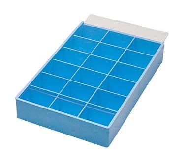 Plastic Tray with Slide Lid and 18 Compartments