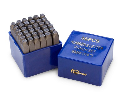 "1/4"" Letters & Numbers Punch Set"