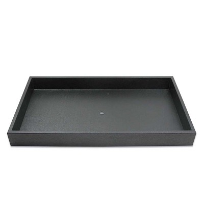 "Plastic Stackable Jewelry Tray 1-1/2"" Deep Black"