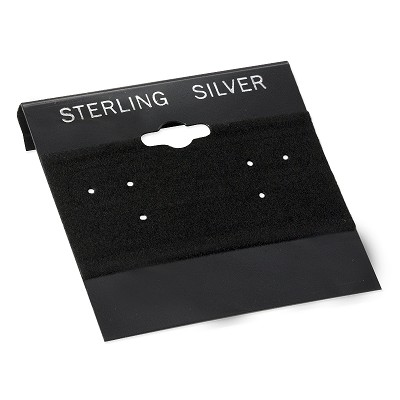 "Earring Cards Black ""Sterling Silver"" Imprint (100pcs)"