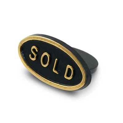 Sold Sign Black (Pack of 10)