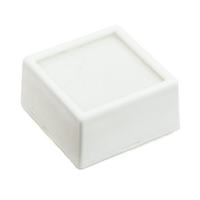 White Glass Top Gem Jar 1-1-2""